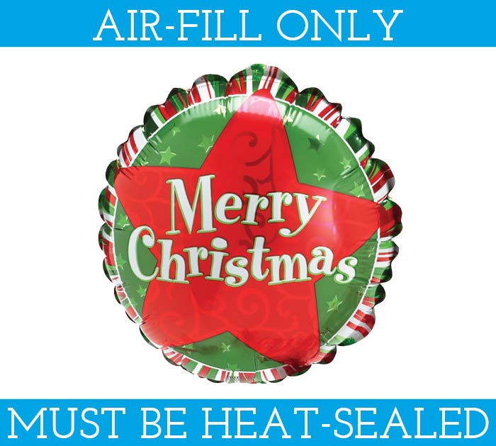 "9""FLAT MERRY CHRISTMAS MINI SHAPE"