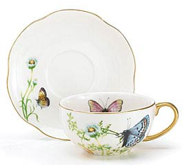 WINGS OF GRACE PORCELAIN TEACUP/SAUCER