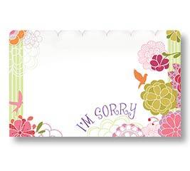 ENCL CARD I'M SORRY