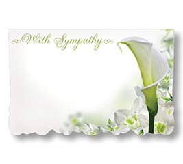 ENCL CARD WITH SYMPATHY
