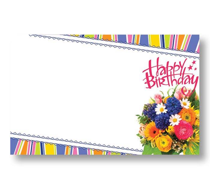 ENCL CARD HAPPY BIRTHDAY SUMMER FLOWERS