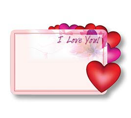 ENCL CARD ILY HEARTS