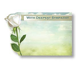 ENCL CARD WITH DEEPEST SYMPATHY
