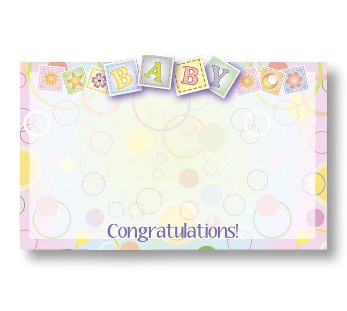 ENCL CARD BABY CONGRATULATIONS