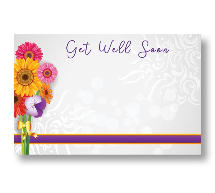 ENCL CARD GET WELL SOON VIBRANT BOUQUET