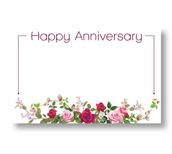 ENCL CARD ANNIVERSARY SPRING ROSES