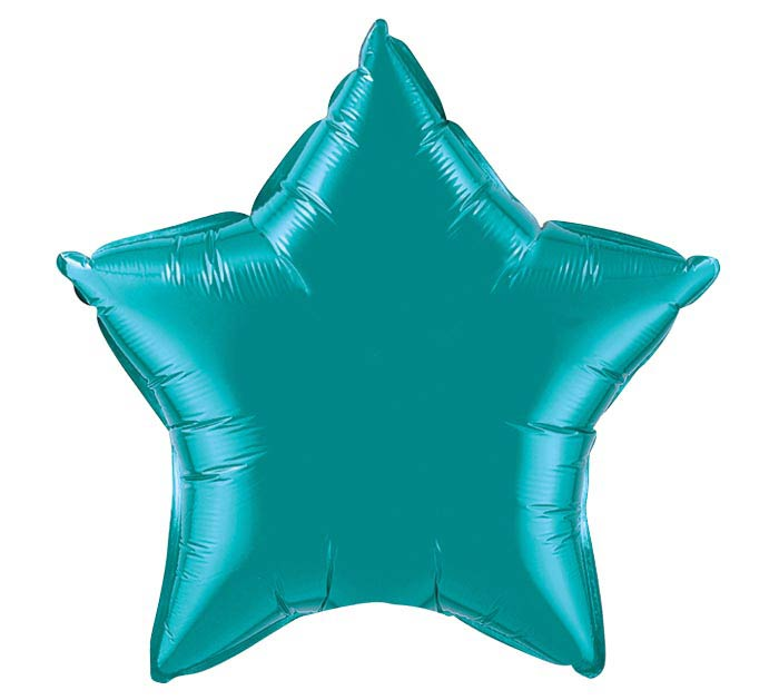 "20"" TEAL STAR SHAPE"