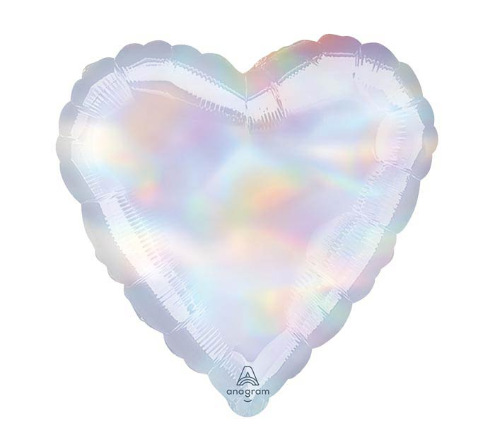 "18""SOL IRIDESCENT HOLOGRAPHIC HEART"