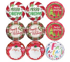 "18"" CHRISTMAS ASSORTMENT BALLOONS"