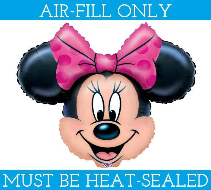 "14""FLAT MINNIE MOUSE HEAD MINI SHAPE"