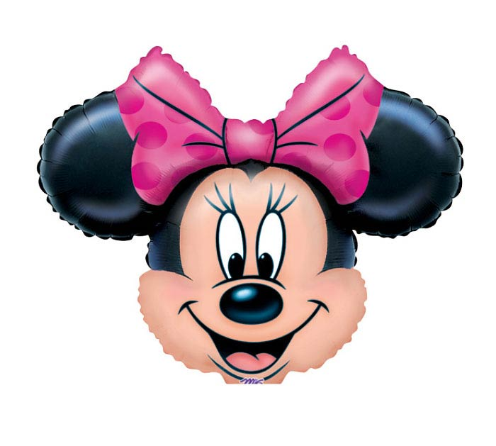 "14"" AIR-FILLED MINNIE MOUSE HEAD"