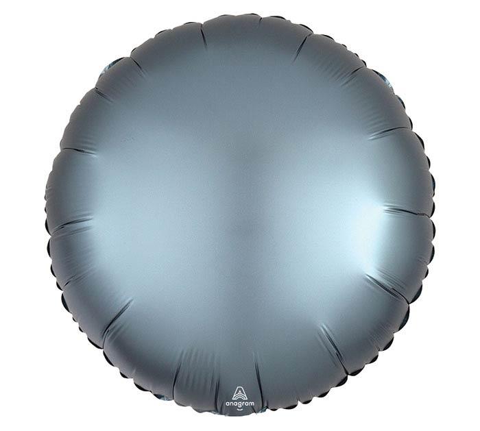 """17""""SOL SATIN LUXE STEEL BLUE ROUND"""