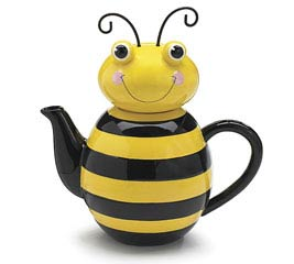 HONEY BEE CERAMIC TEAPOT