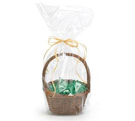 "CLEAR BASKET BAG 24""H X 12""W"