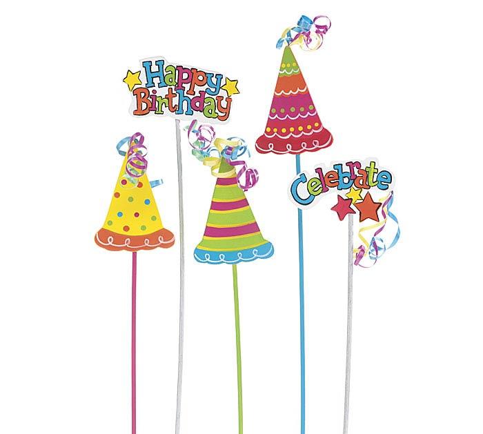 CRAZY CAKE HAPPY BIRTHDAY WOOD PICK SET
