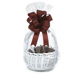 CLEAR ROUND BOTTOM BASKET BAG 24 X 14