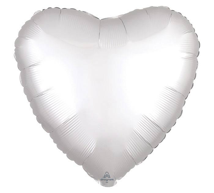 "17""SOL SATIN LUXE WHITE HEART"