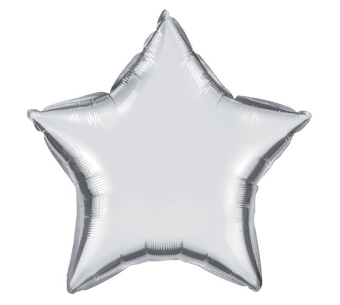 "20""SILVER STAR SHAPE"