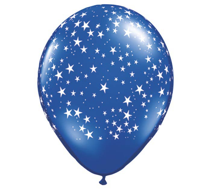 "11""STARS ON SAP BLUE"