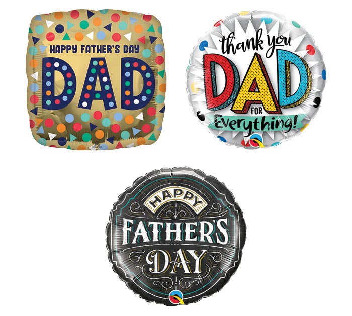 """FATHER'S DAY 9"""" AIRFILLED AST OF 32"""