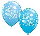 "11""BBY BABY BOY BLUE DOTS-A-ROUND"