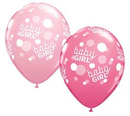"""11""""BBY BABY GIRL PINK DOTS-A-ROUND"""