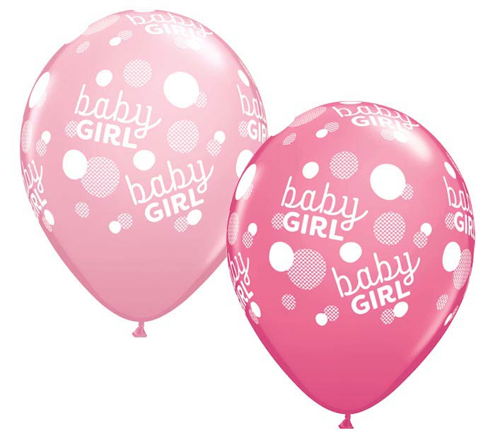 "11""BBY BABY GIRL PINK DOTS-A-ROUND"