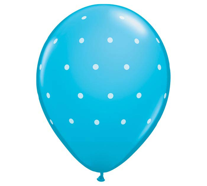 "11""GEN SMALL POLKA DOTS ROBIN'S EGG BLUE"