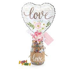 FLORAL LOVE MASON JAR