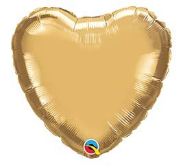 "18""SOL CHROME GOLD HEART"