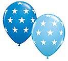 "11""GEN BIG STARS DK BLUE  PALE BLUE"