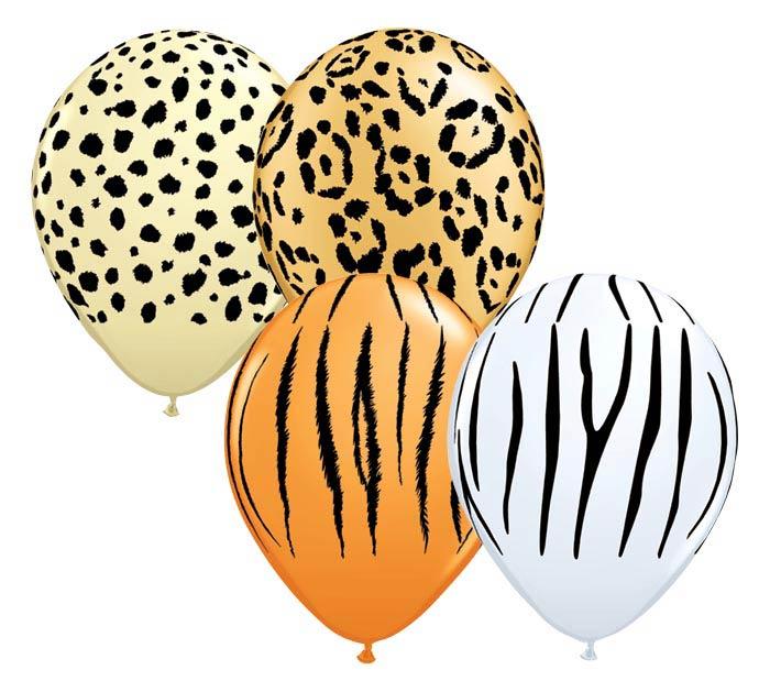 "Quantity Neon Safari Print Latex 11/"" Balloon Party Decorating Supplies 10"