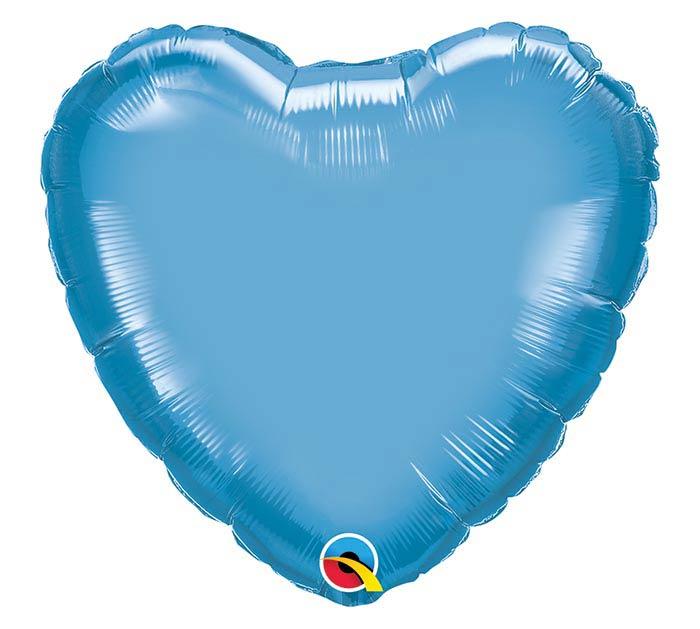 """18""""SOL CHROME BLUE HEART"""
