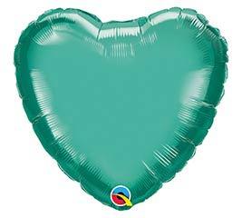 "18""SOL CHROME GREEN HEART"