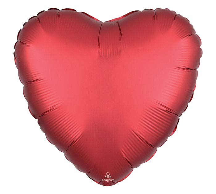 "17""SOL SATIN LUXE SANGRIA HEART"