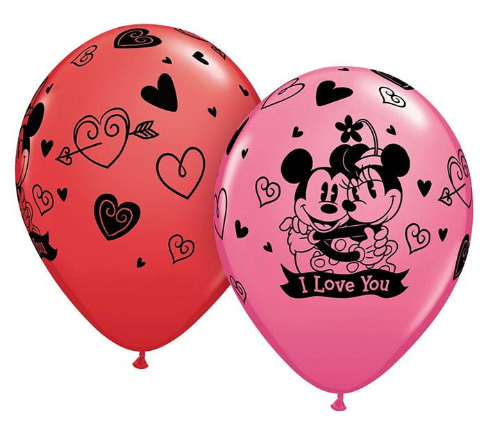 "11""ILY DISNEY MICKEY  MINNIE I LOVE YOU"