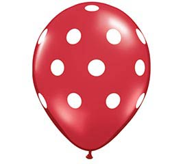 "11"" RED POLKA DOTS"