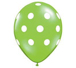 "11"" LIME GREEN DOTS"