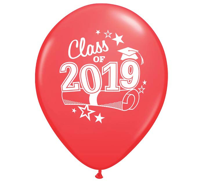 "11"" GRADUATION 2019 RED LATEX"