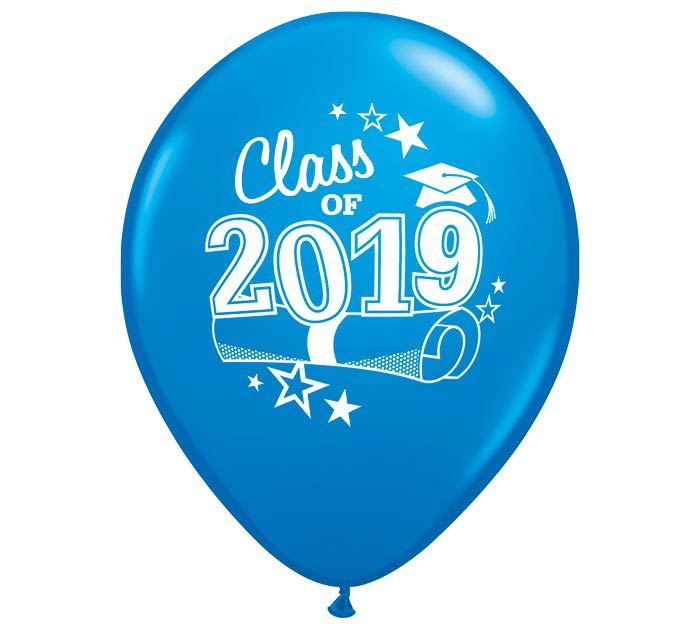 "11"" GRADUATION 2019 DARK BLUE LATEX"