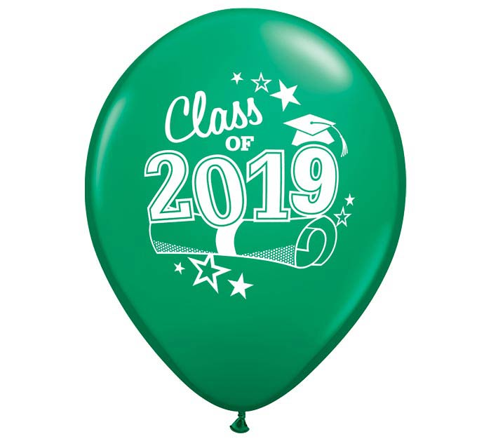 "11"" GRADUATION 2019 GREEN LATEX"