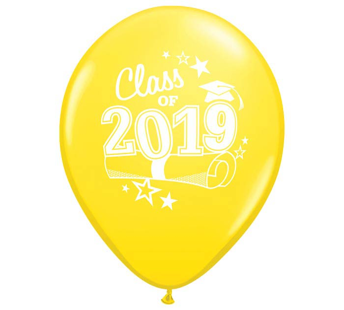 "11"" GRADUATION 2019 YELLOW LATEX"