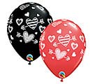 "11""LUV PATTERNED HEARTS  ARROWS"
