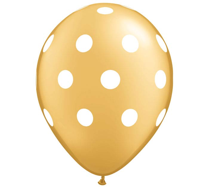 "11"" BIG POLKA DOTS ON GOLD"