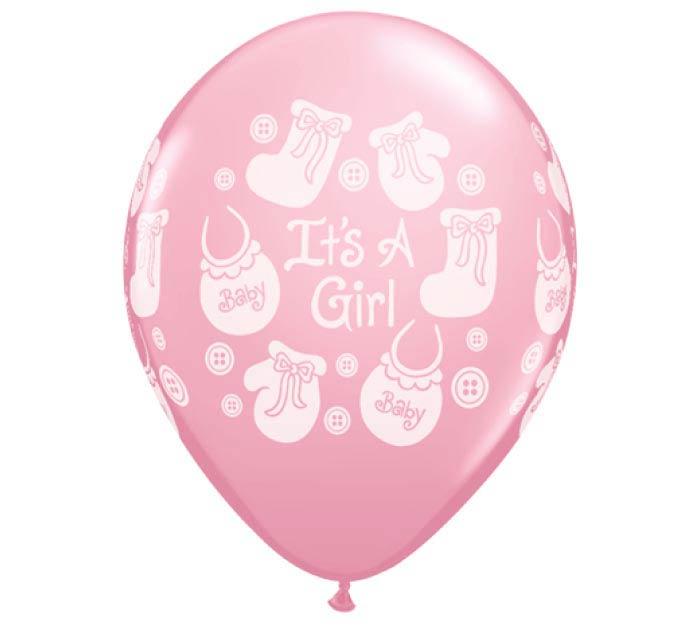 "11""IT'S A GIRL LATEX"