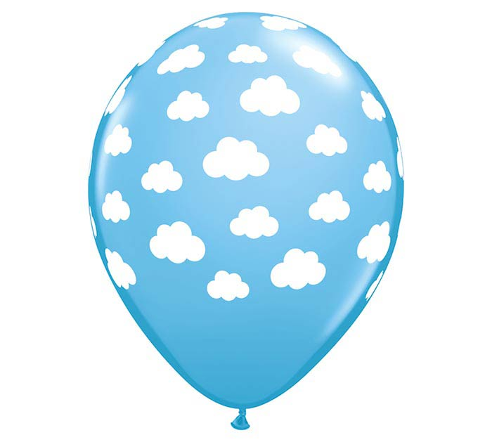 "11"" CLOUDS ON PALE BLUE"