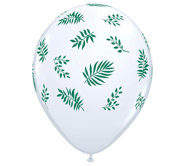 "11"" TROPICAL GREENERY LATEX BALLOON"