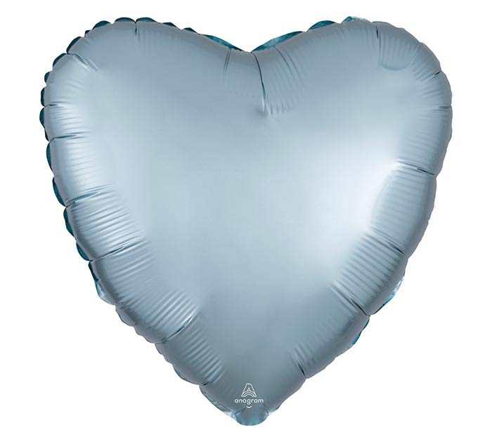 """17""""SOL SATIN LUXE PASTEL BLUE HEART"""