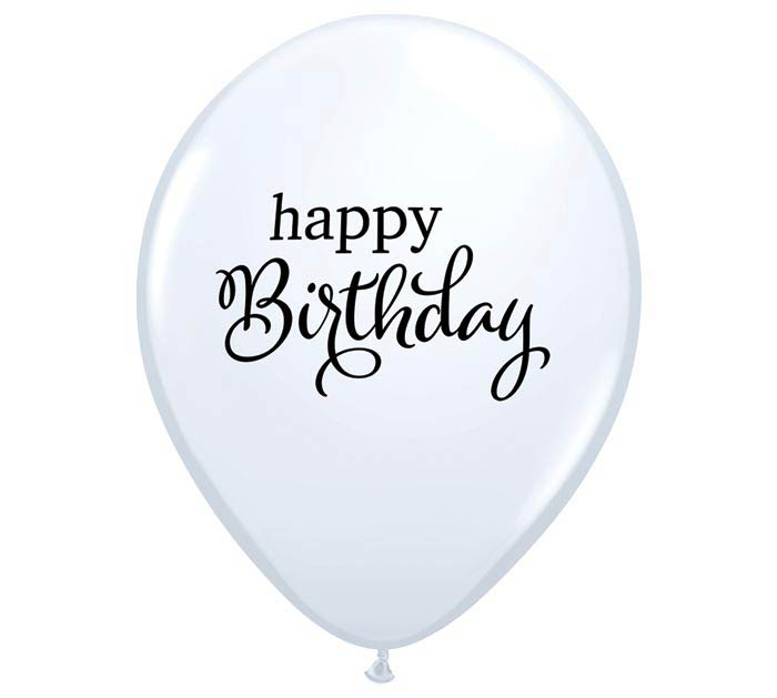 "11"" SIMPLY HAPPY BIRTHDAY LATEX BALLOON"