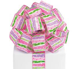 #9 LIL'BABY GIRL DOTS WIRED RIBBON